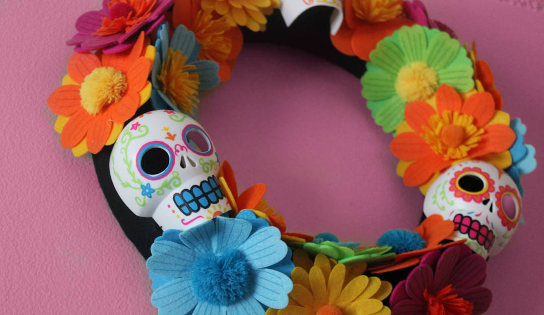 Día-de-muertos-corona-day-of-the-dead-wreath