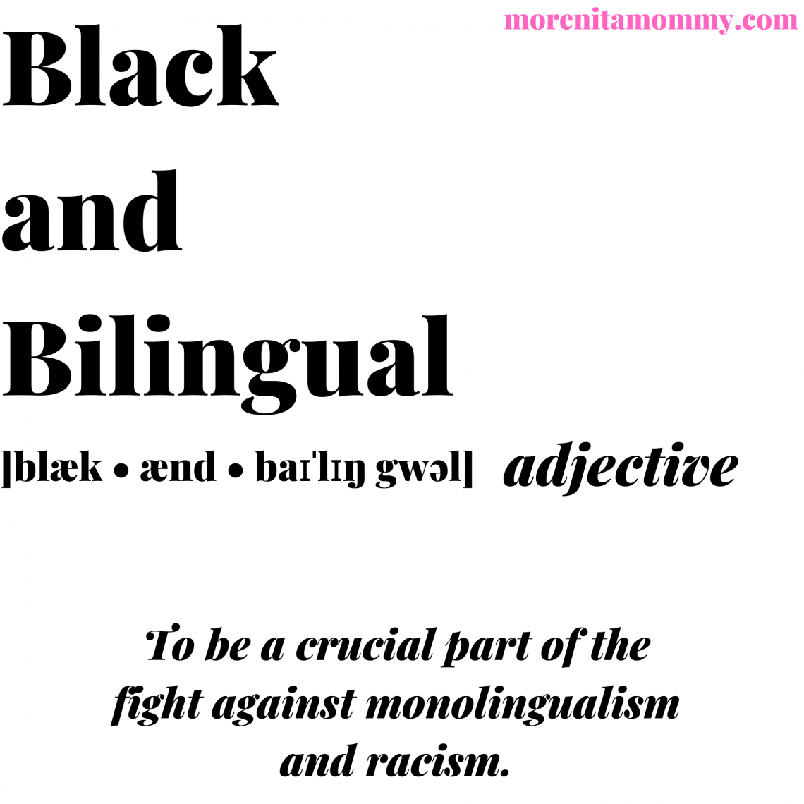 Black and Bilingual