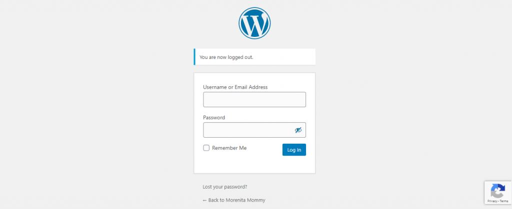 word-press-login-page